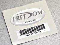 Domed Decal & Barcode Label