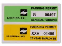 Parking Permit Tag