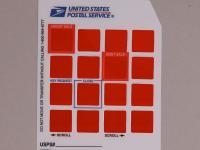 Postage Die Cut Graphic Overlay