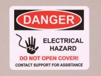 Electric Hazard Polyester Label