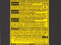 Airbag Label - Polyester