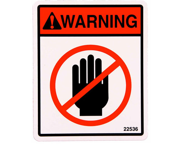 industrial warning labels ansi certified labels signs label