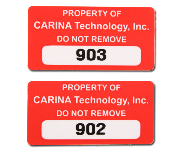 Custom Asset Labels & Tags | Equipment & Property ID Tags