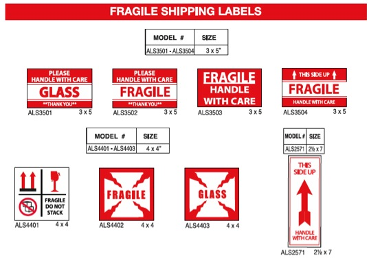 Pre-Printed Shipping Labels