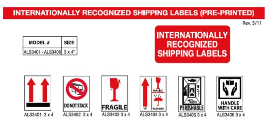 PrePrinted Shipping Labels  Fragile Shipping Labels  LabelAid